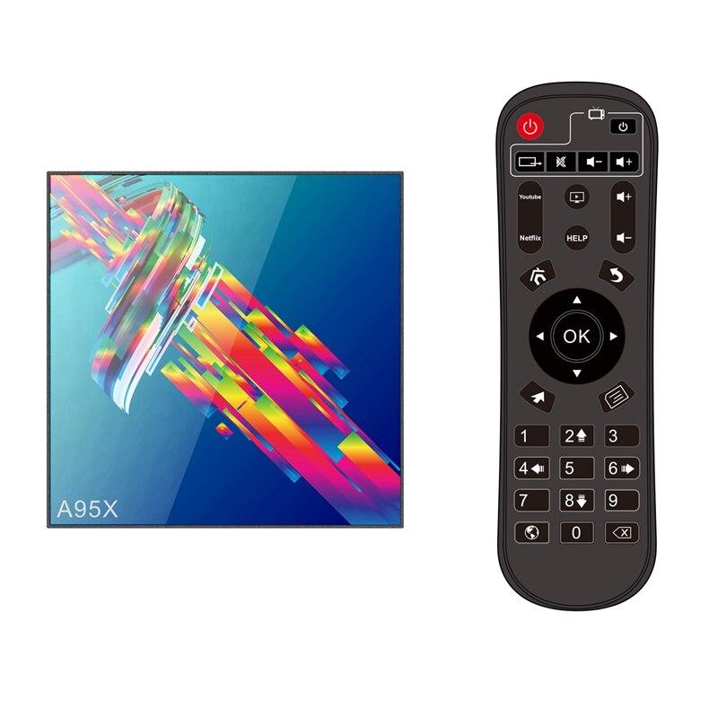 Ffyy-mini Pc Smart Tv Box Android 9.0 2G/16G Quad Core 1.1Ghz 2.4G Wifi avec Port Rj45 Usb3.0 Hdmi Tf carte optique Av prise ue