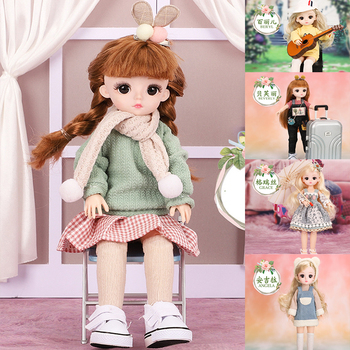 Cool Bjd Doll 30CM Gifts For Girl 15 Joints DIY Dolls With Clothes Beauty Best Gifts For Girl Handmade Beauty Toy 1/6 BJD Doll 35cm 1 6 bjd sd bbgirl doll toys high quality joints dolls diy girl dolls blyther dolls toys birthday gifts for child children