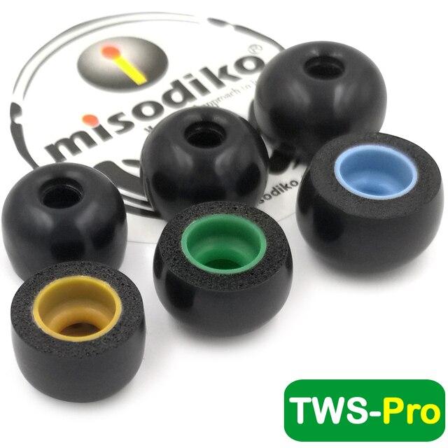 misodiko TWS Pro Memory Foam Ear Tips for Ture Wireless Earbuds  Jabra Elite 75t, Elite 65t, Active 65t, Elite Sport, Evolve 65t