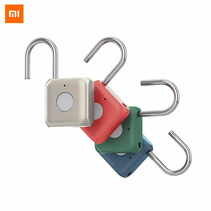 Xiaomi Mijia YD Умный Замок, работающий по отпечатку пальца Padlock Kitty Hardcore technology отпечаток пальца открытый умный дом путешествия офисный безопасный