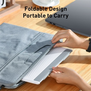 Image 5 - Baseus örgü taşınabilir dizüstü Macbook pro standı katlanabilir dikey dizüstü tutucu aksesuarları destek dizüstü Tablet