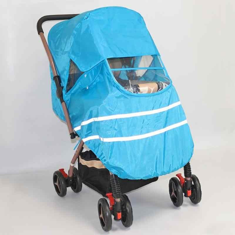 Cubierta Universal del coche del PVC del viento del polvo de la lluvia del cochecito de lujo no tóxico de los accesorios sin tachuelas protege la cubierta de los niños 125x85cm