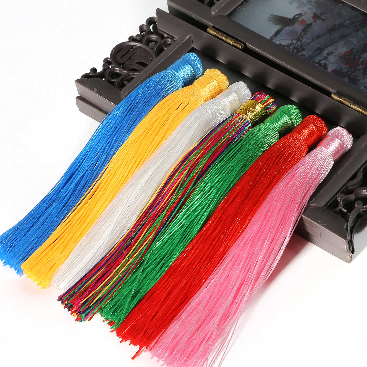1pcs/lot 120mm Mixed Cotton Silk Tassels Earrings Charm Pendant Satin Tassels for DIY Jewelry Making Findings Materials