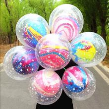 10 sztuk 12 cal podwójna warstwa balony z agatu ślub Ballon szczęśliwy urodziny dziecka dekoracja na Baby Shower dla dzieci Party Supplies tanie tanio DDAYPT CN (pochodzenie) Owalne ROUND Flower Lateks Ślub i Zaręczyny Na imprezę Agate Balloons