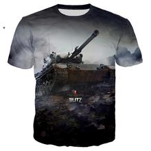 3D print World Of Tanks Game T shirt Military T-shirt Hiphop Cool Tee shirt/Streetwear Summer Men Clothes 2019 Oversized 5XL TOP