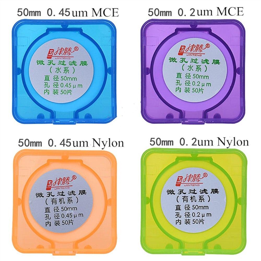 Microporous Filter Membrane Nylon Diameter 47mm/ 50mm/ 60mm 0.45um/0.22um MCE Micro Membrane Filter JIN TENG BRAND 50pcs/pk