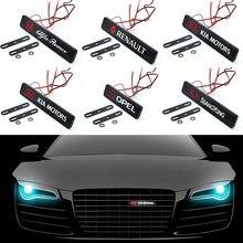 1 Uds coche capó delantero parrilla del radiador de luz LED accesorios del coche para Peugeot 206, 107, 108, 207, 308, 307, 508, 2008, 3008 de automoción productos