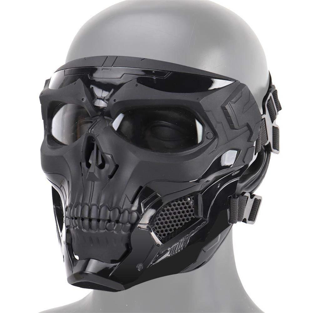 Image 1 - Hot Selling Halloween Skeleton Airsoft Mask Cool Skull Half Face Masks For Game Party Sports Hunting Festival Party DIY Cosplay-in Party Masks from Home & Garden