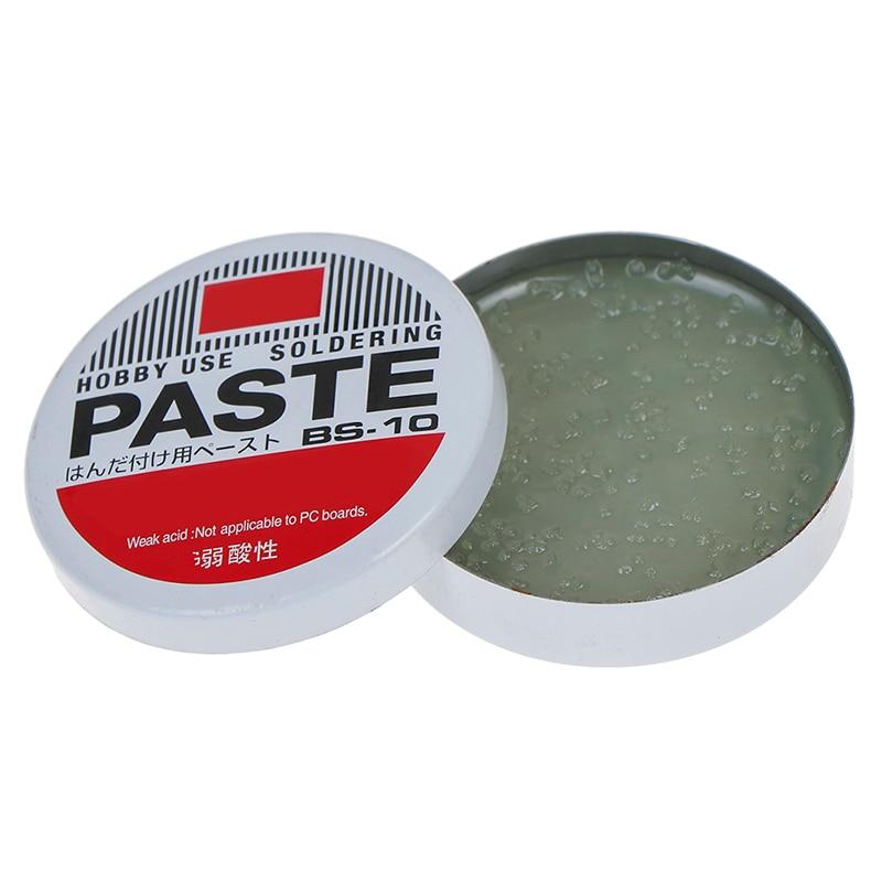 1PC 10g Silver Weak Acid Soldering Solder Paste Solder Flux Grease Paste BS-10 4.5cm Semi Solid