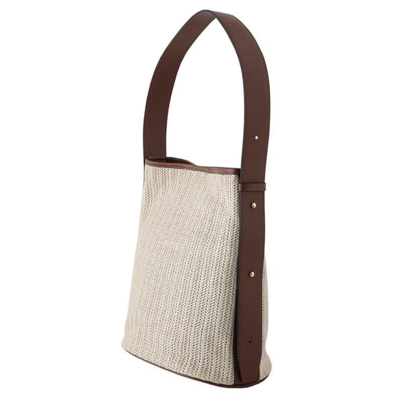 מזדמן קש דליים תיק לנשים בוהמי נצרים ארוג כתף שקיות ליידי תיק גדול קיבולת טוטס קיץ החוף גדול ארנק