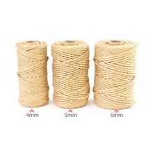 10m 5m mesh hollow natural jute twine rope string cord diy craft burlap scrapbook 100M 4-5mm Natural Jute Rope Twine Burlap String Vintage DIY Scrapbooking Florists Craft Home Decor Gift Wrapping Cords Thread