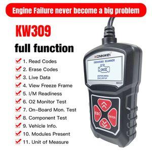 Image 4 - 2020 najnowszy profesjonalny samochodowy czytnik kodów diagnostyczne narzędzie skanujące KW309 OBD2 skaner motoryzacyjny Check Engine światła narzędzia Mu