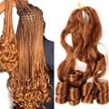 20 дюймов Свободные волны волосы кроше для наращивания на крючках, косички, синтетика, вьющиеся волосы предварительно растягивается плетени...