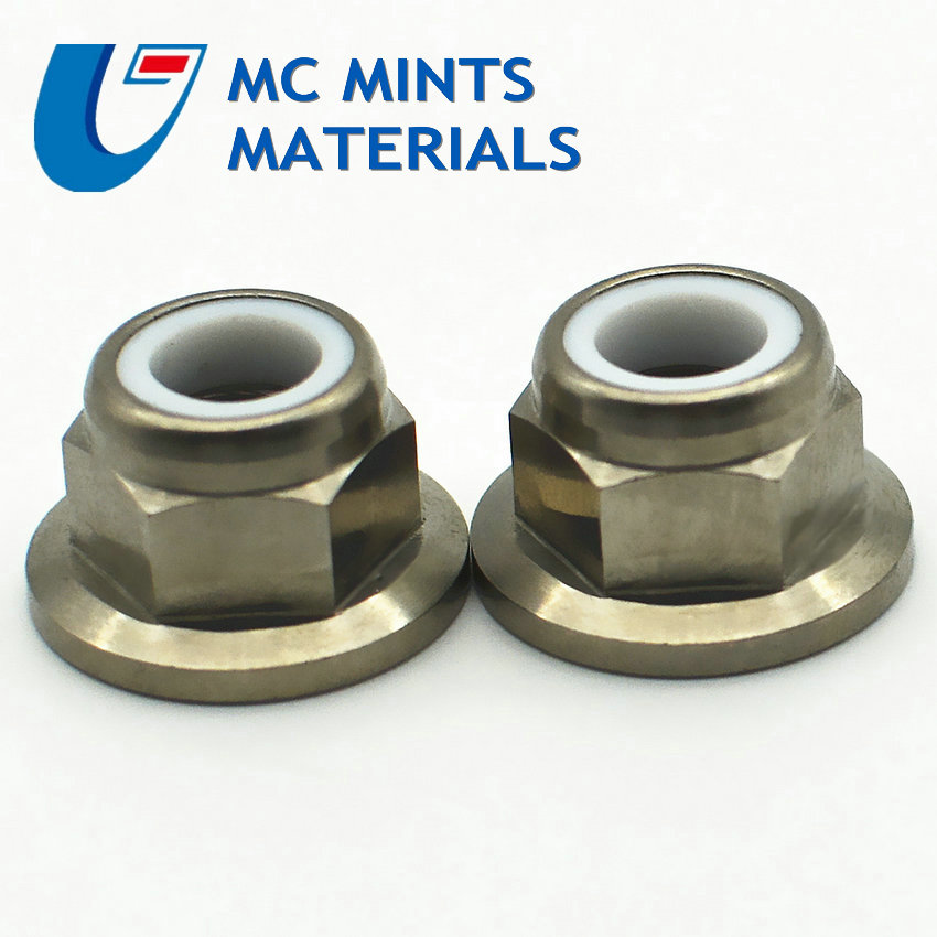 1pc M5,M6,M8,M10,M12,M14 MTB Motorcycle Bike Titanium Ti Alloy Flange Nuts Gr5