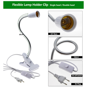 Image 4 - 220V Phytolamp E27 Full Spectrum LED Grow Light Flexible Metal Hose Clip on Growing Lights Indoor Phyto Lamps for Plants Flowers
