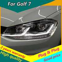 Car Styling Head Lamp for VW GOLF 7 MK7 Upgrade to MK7.5 Design Golf 7.5 Headlights LED Headlight DRL Bi Xenon Lens Double U