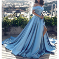 Vestidos De Fiesta Fish Tail Sexy Long Dresses V-Neck Backless Party Gowns Sleeveless Sweep Train Cheap Tulle Party Dress Women