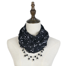 scarf mujer summer fashion G-Clefs print jewelry pendant neckwear shawls echarpe hijabs music necklace  DIY