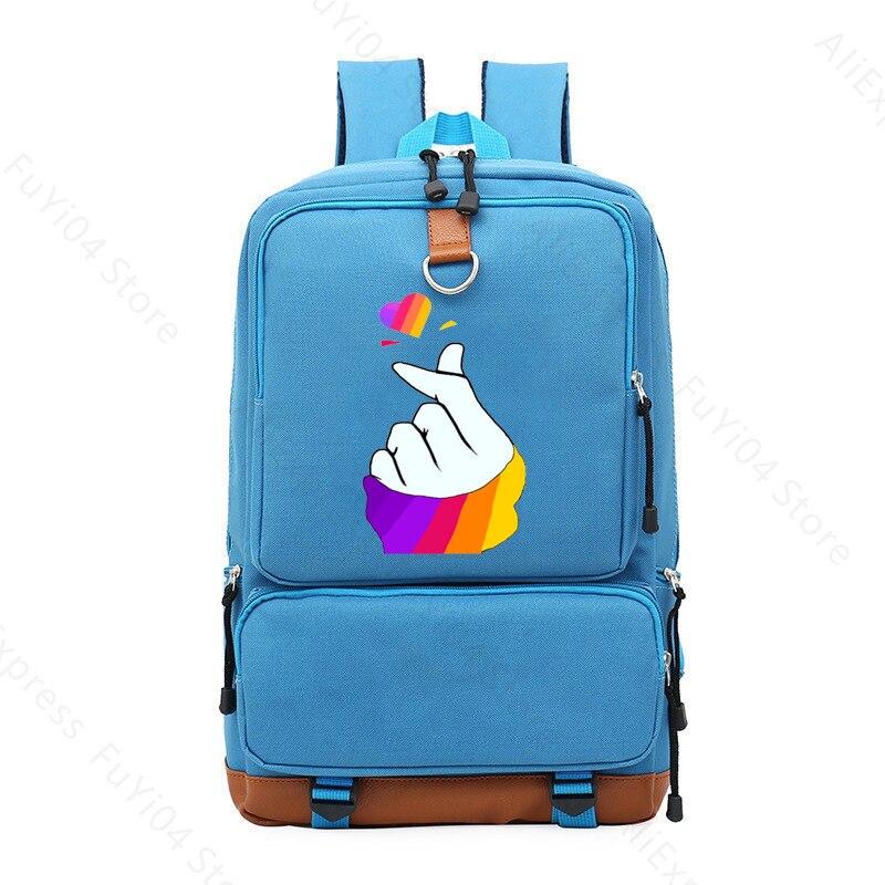 Рюкзак likee app в русском стиле для студентов милая школьная
