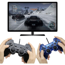 Broodio Wired Gamepad For Sony PS2 Controller For PS2 Joystick For playstation 2 Vibration Shock Joypad Wired Controle wired gamepads for sony ps2 controller for mando ps2 ps2 joystick for plasystation 2 double vibration shock joypad геймпад game
