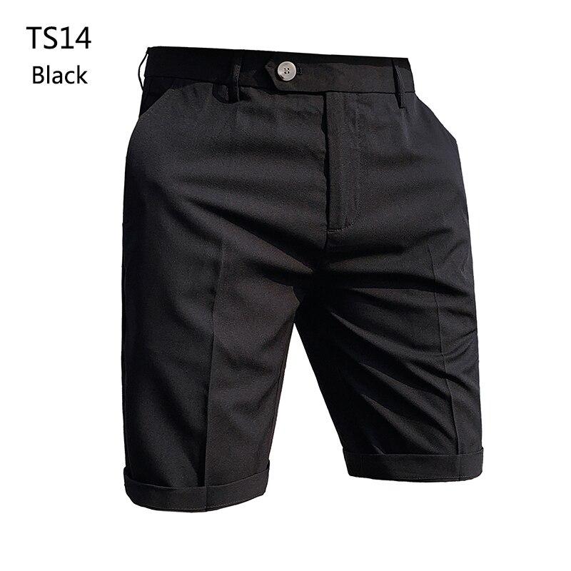 Мужские шорты черно-белые Формальные Деловые костюмы шорты Прямая поставка