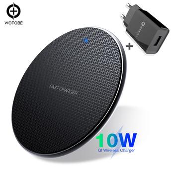Mobile phone charger Qi Wireless Charger 10W 7.5W 5W for iPhone 11/11pro/xr 8/8 Plus/ s10/S9/S9+/S8/S8+/S7/Note 8/9/10 PowerPort portable wood qi wireless charger pad for iphone x xs max xr 8 plus samsung s8 s9 note 8 9 slim mobile phone wireless charger
