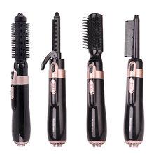4 в 1 щетка для сушки волос Электрический Выпрямитель завивки