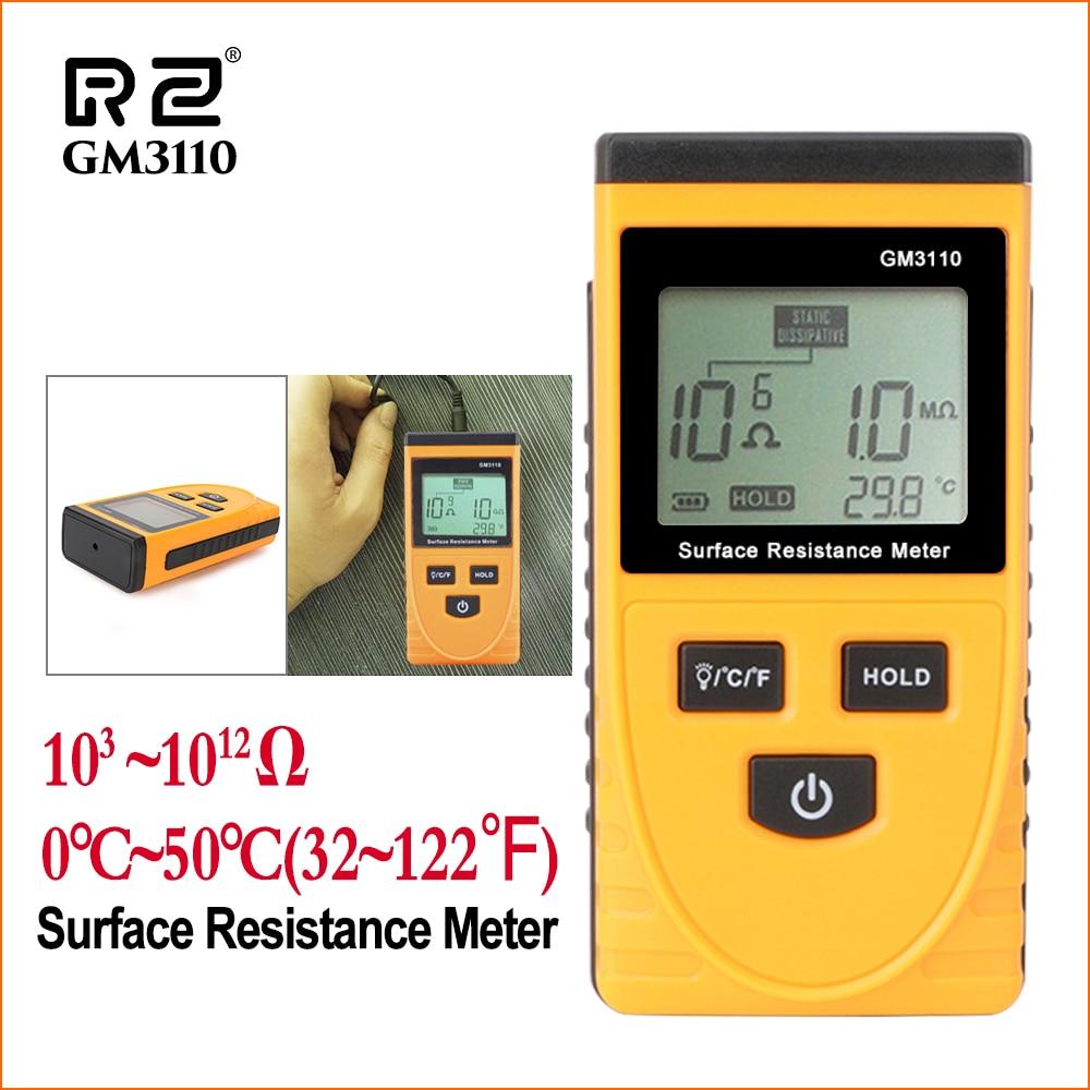 RZ Surface Resistance Meter Handheld Earth Resistance Meter Measure Instrument Static Detector Handheld Digital Resistance Tools