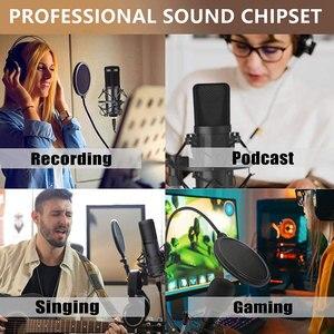 Image 3 - Micrófono de condensador USB para ordenador, Kit de micrófono de transmisión de Podcast, PC, 192KHZ/24 bits