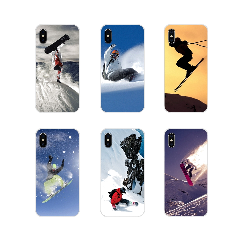 For Samsung Galaxy J1 J2 J3 J4 J5 J6 J7 J8 Plus 2018 Prime 2015 2016 2017 Snow Or Die Ski Snowboard Transparent Soft Cases Cover