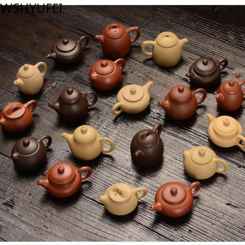 Purple Clay Finger Teapot Tea Pet Small Pocket Tea Set Ornaments Handmade Tea Set TeaPet Boutique Tea Table Decoration