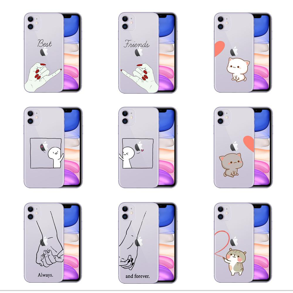 We will always be best friends <font><b>case</b></font> for <font><b>iphone</b></font> 11 Pro XS Max X XR <font><b>bff</b></font> cover <font><b>cases</b></font> for <font><b>iphone</b></font> 8 7 6 6s Plus 5S <font><b>SE</b></font> coque soft TPU image