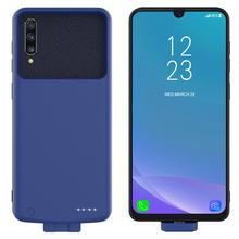 For Samsung Galaxy A50 Battery Charger Case 2 in 1 Magnetic Soft TPU Cover+7000mAh Powerbank Battery Case For Samsung A50 Case