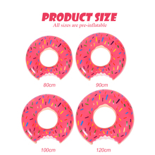 Inflatable Donut Swimming Ring Sea Party Air Mattress for Adult Child Baby Pool Buoy Seat Circle Beach Party Toys