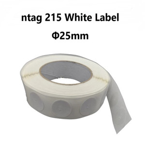 RFID tag ntag 215 high frequency white label access card 13.56khz NFC induction tag