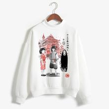 Japońskie Anime Studio Ghibli bluza z kapturem Totoro bluzy bluzy kobiety mężczyźni Kid bluza z kapturem Harajuku Spirited Away bluza z kapturem mężczyzna tanie tanio ojuiyuhu COTTON Modalne CN (pochodzenie) Zima REGULAR Pełna Suknem Swetry Stałe Na co dzień Osób w wieku 18-35 lat Golfem