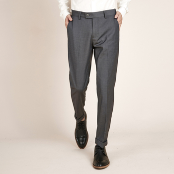 Spring Summer Mens Casual Suit Pants Pencil Slim Fit Trousers Thin Business Casual Pant Male 5 Colors C48