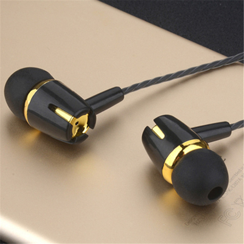 2020 New Style In-Ear Earphone Metal Headphones With Mic Stereo Wired Headset Deep Bass Sound <font><b>tws</b></font> noise cancelling image