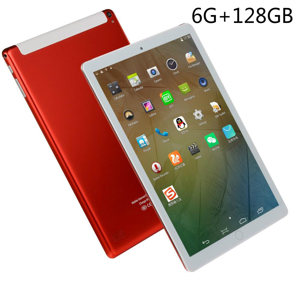 10 Inch Tablet 4G LTE Tablet PC 10 Core 4 GB RAM 128 GB ROM Google Market 1280x800 IPS Tablets Android 8.0 Wifi GPS Bluetooth