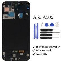 OEM ل سامسونج A50 SM A505FN/DS A505F/DS A505 LCD عرض تعمل باللمس الجمعية محول الأرقام لسامسونج A50 LCD
