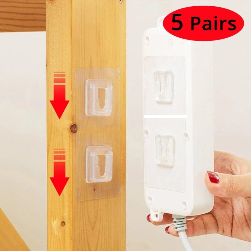 5 Pairs Doppelseitiges Klebeband Wand Haken Aufhänger Starke Transparent Haken Saugnapf Sucker Wand Lagerung Halter Für Küche