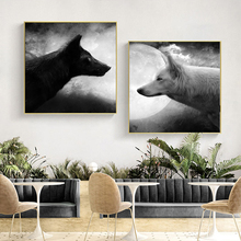 Black White Animal Art Wolf Pictures Canvas Paintings for Living Room Posters And Prints Modern Decorative Unframed
