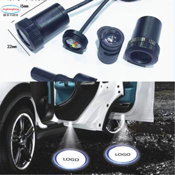JXF 2 sztuk projektor laserowy Led drzwi samochodu podświetlenie Logo Ghost Shadow fr większość samochodów stosuje się do brytyjskich samochodów marki tanie i dobre opinie JingXiangFeng Światło na powitanie
