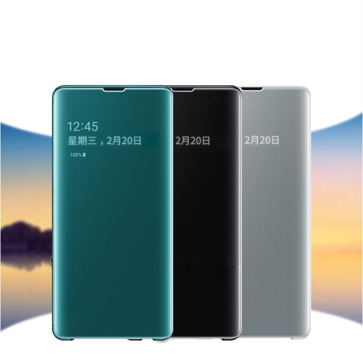 Smart <font><b>mirror</b></font> <font><b>flip</b></font> <font><b>case</b></font> for <font><b>Samsung</b></font> Galaxy S8 S9 <font><b>S10</b></font> Plus e 5G S10E clear cover for <font><b>samsung</b></font> Note 8 9 10 Pro A7 2018 <font><b>flip</b></font> <font><b>case</b></font> image