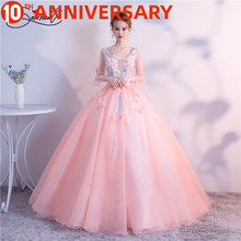 OllyMurs Color Prom Dress Opera Performance New Spring and  Summer  6 Layer 3D Flower Fluffy Thin Shoulder Dress Free Shipping