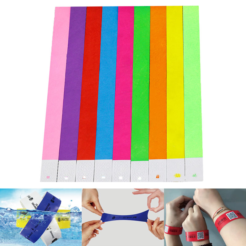 """PAPER WRISTBANDS 5,000   OVER 21   3//4/"""" TYVEK WRISTBANDS ARM BANDS"""
