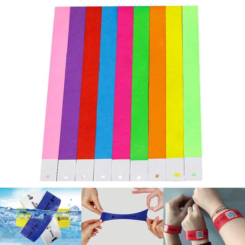 """100 pces count tyvek pulseiras 3/4 """"pulseiras de papel para eventos"""
