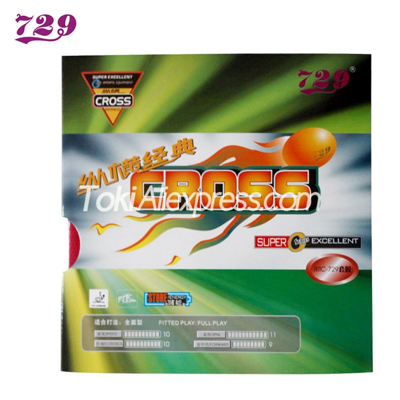 Friendship 729 RITC CROSS Classic Table Tennis Rubber Pips-In Original 729 Ping Pong Sponge
