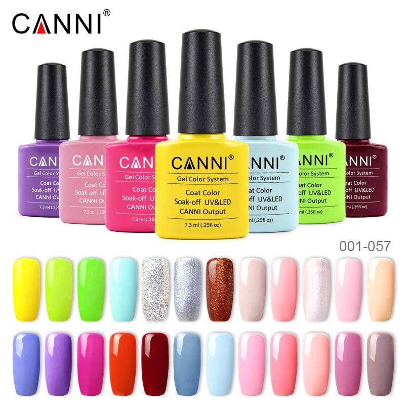 CANNI Gel Nail Polish Color 001-127 Paint Long Lasting Soakoff High Quality Salon Base Coat Topcoat LED UV Nails Gel Lacquer 1