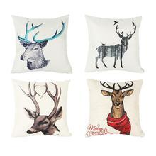 1Pc Cushion Cover 45×45cm Throw Pillow Case Merry Christmas Sofa Living Room Home Decorations